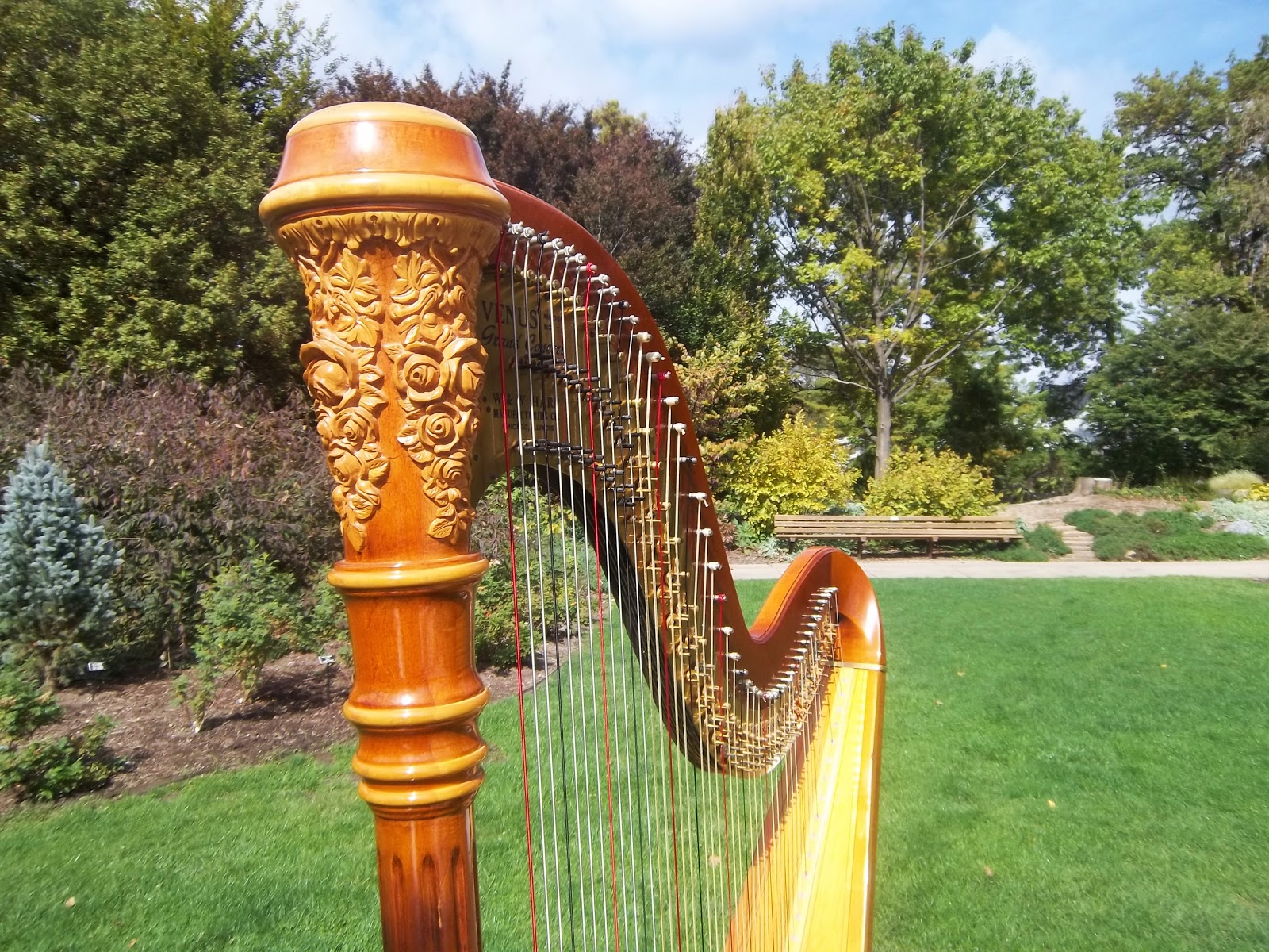 Peoria Wedding Harpist ~ Ceremony Music at Luthy Botanical Gardens ...