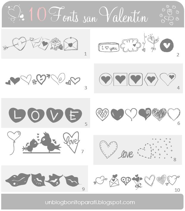 Tipos de letras para San Valentin - Mi diamante azul