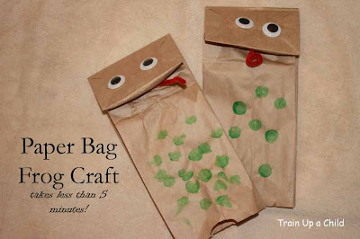 Frog books and activities for preschool and kindergarten for Brown paper bag crafts for preschoolers