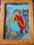 Sf. Prooroc Ilie - icoană pe sticlă, 2013