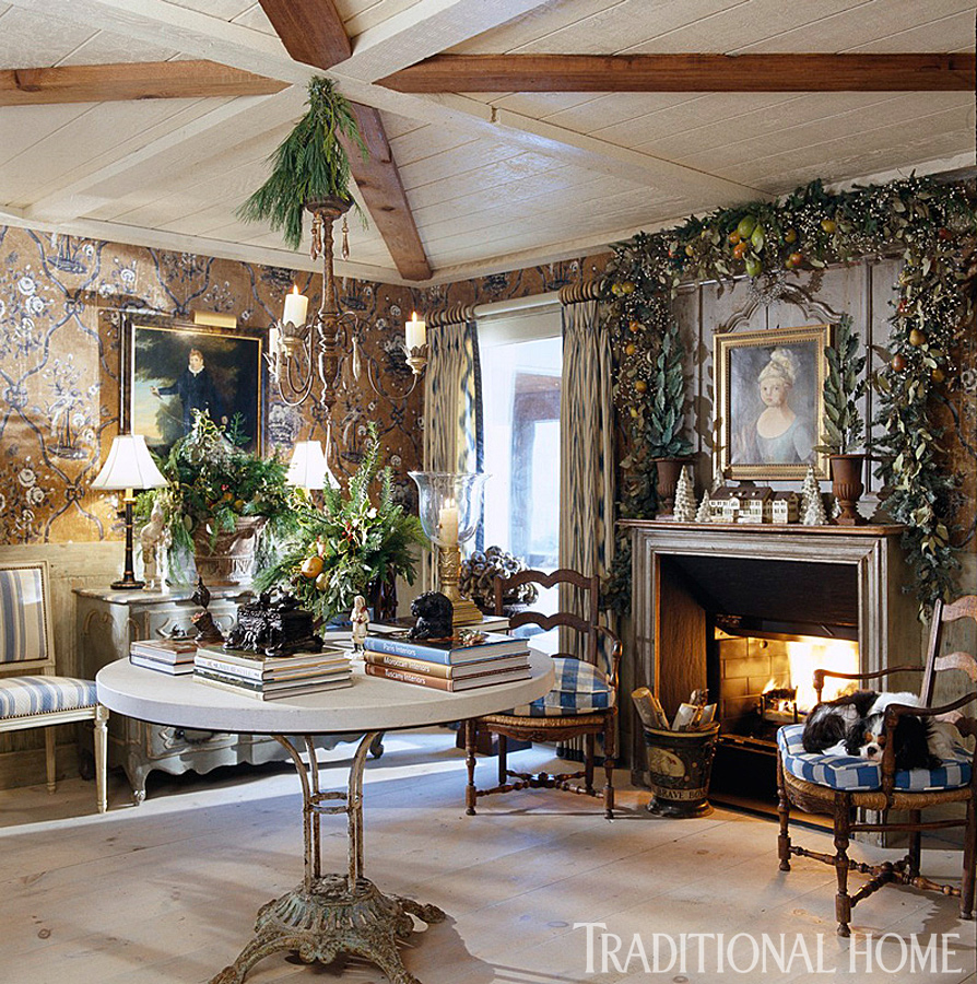 Hydrangea hill cottage french country christmas at the cabin for Country homes and interiors christmas