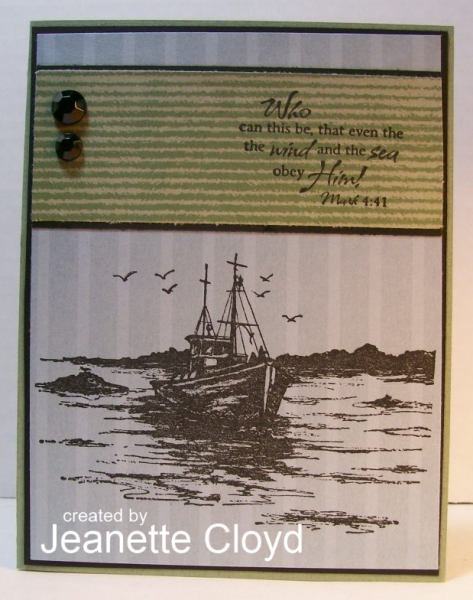 ODBD The Waves on the Sea, Customer Card of the Day Designed by Jeanette Cloyd