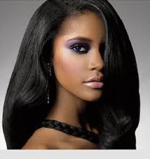 Hairstyles for Black Women with Medium Straight Hair 2013