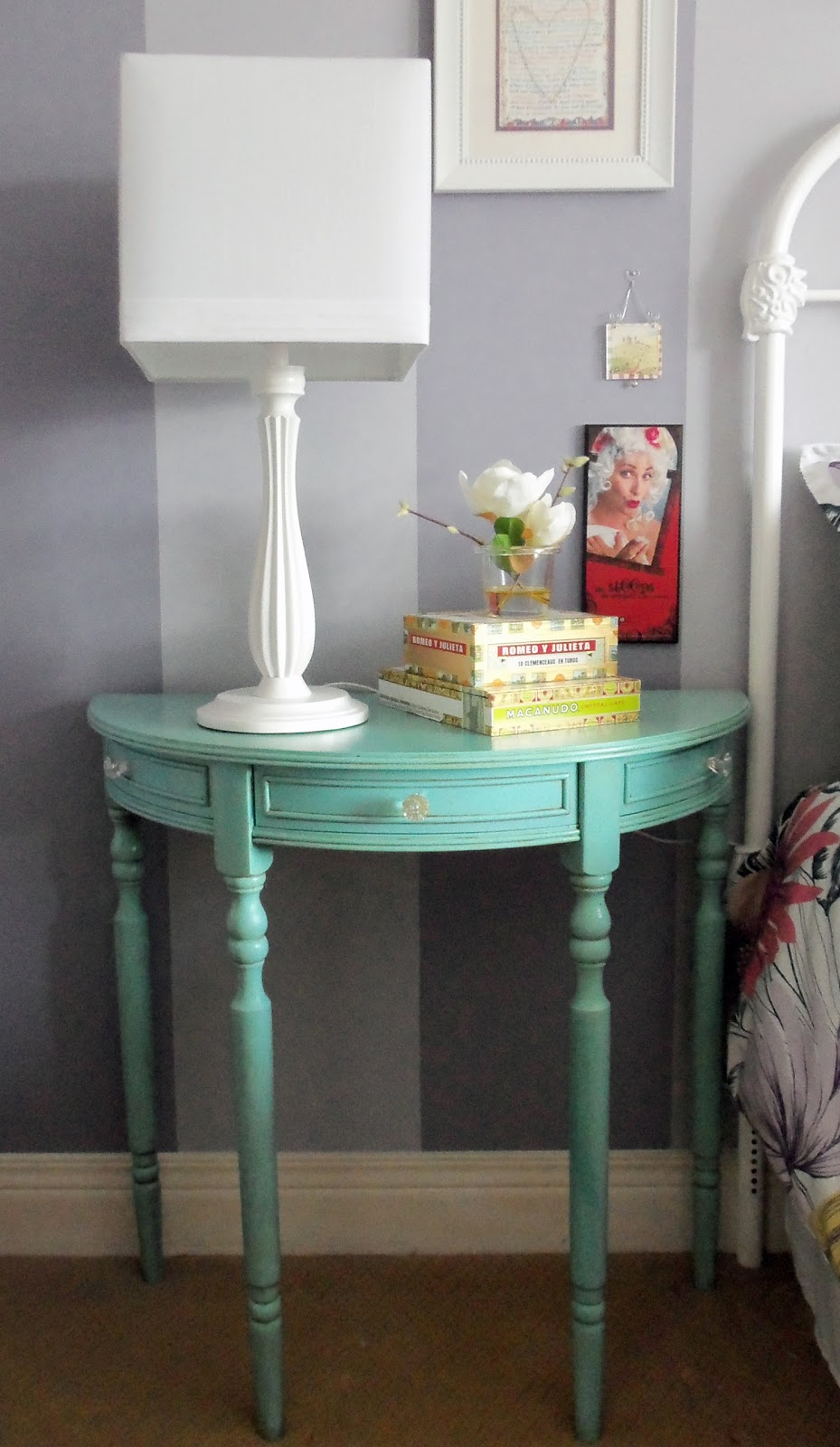 larissa hill designs console table spray paint makeover