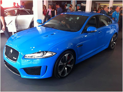 XFR-S in stunning blue at Goodwood FoS