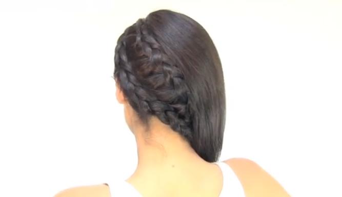 Peinado fácil Semirecogido con ondas y trenzas YouTube - Peinados Con Trenzas Semirecogido