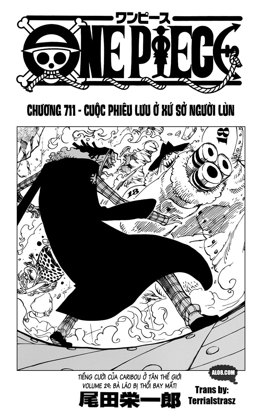 One Piece Chapter 711: Cuộc phiêu lưu ở xứ sở người lùn 001