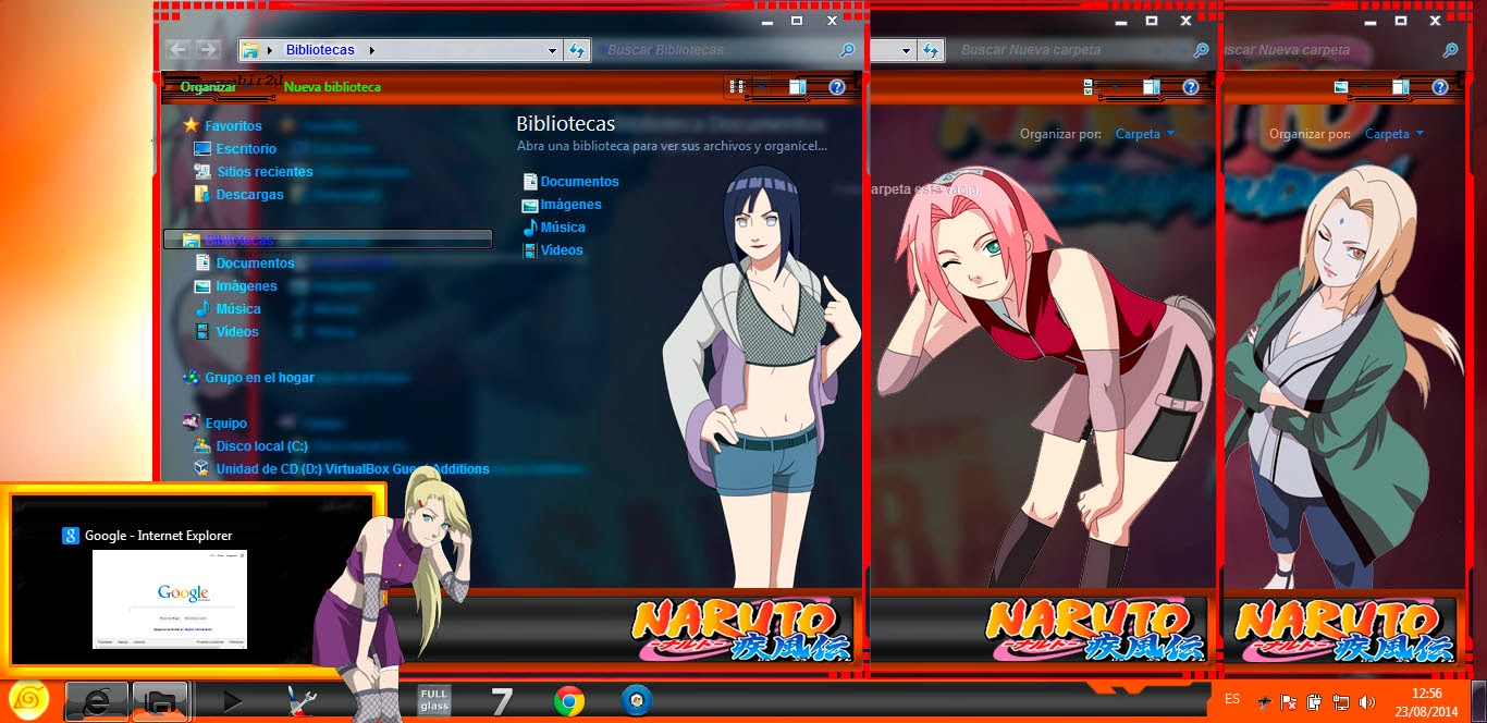 [ Theme Win 7 ] Chicas Naruto 4