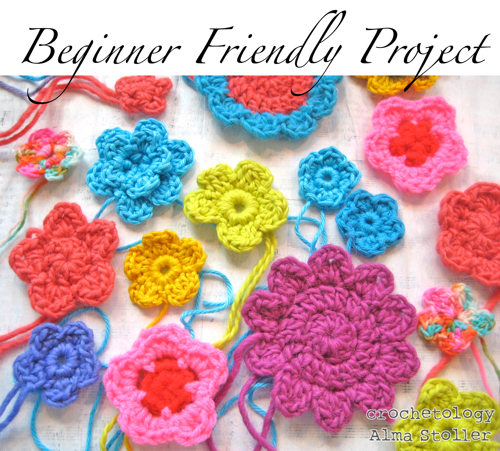 Crocheting Projects For Beginners : Crochetology: The Perks Of MakingA Crochet Flower