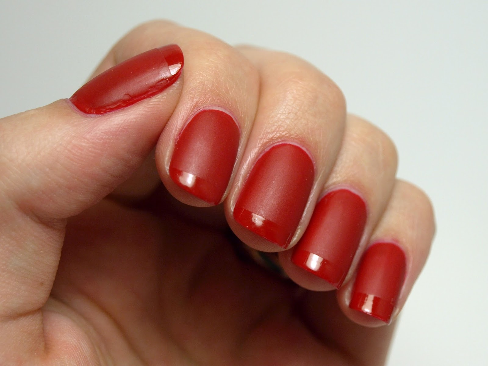 Nail Polish Society: Red Matte and Glossy