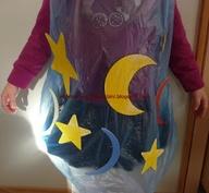 Costume da Cielo con il Riciclo Creativo Buste di Plastica