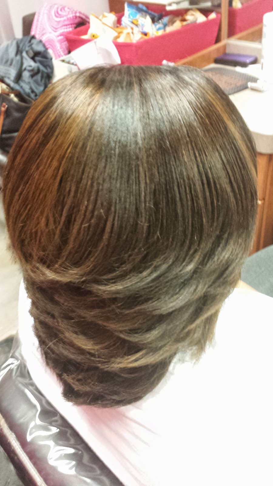 Silk Press Sunday Adding Permanent Color Highlights To