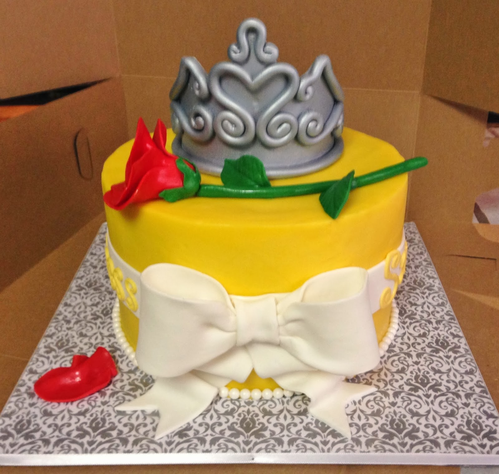 Cakes by Mindy Beauty and the Beast Cake 8