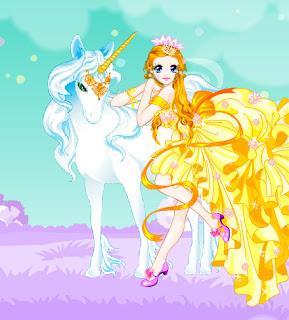 Juego de vestir a la princesa unicornio