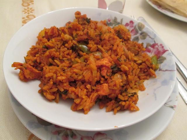 rouz jerbi, riz tunisien, recette tunisienne, basmati, riz, epice, recette, coriandre, blette,