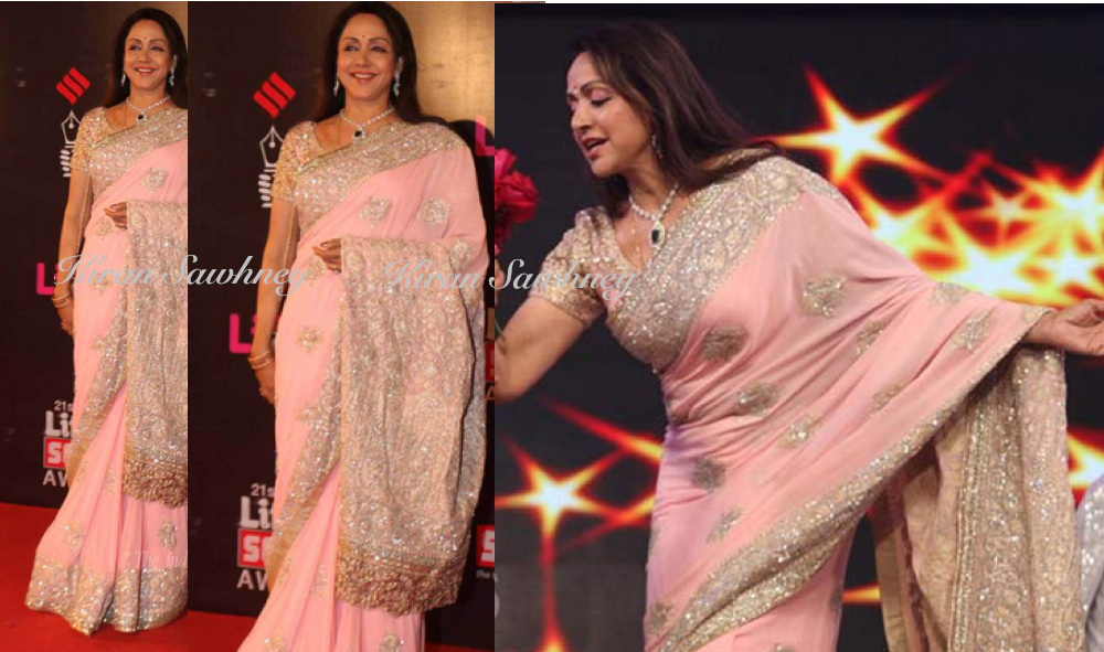 Hema Malini at LifeOK Screen awards 2015