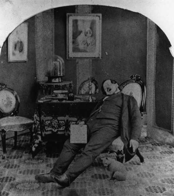 funny vintage photo of people taking naps