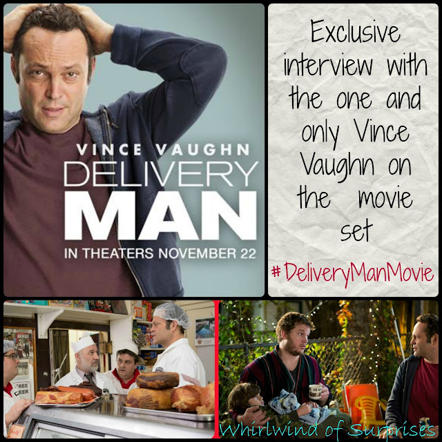 Interview with Vince Vaughn on the #DeliveryMan movie set