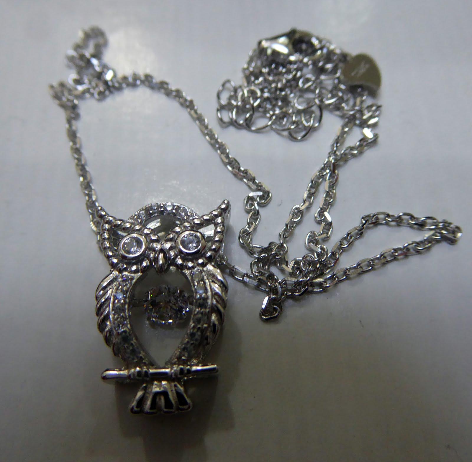 Gargantilla de plata y circonitas con buho