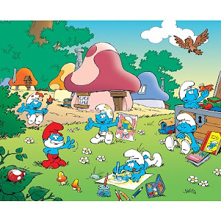eBook Mewarnai Gambar The Smurfs - Coloring Pages
