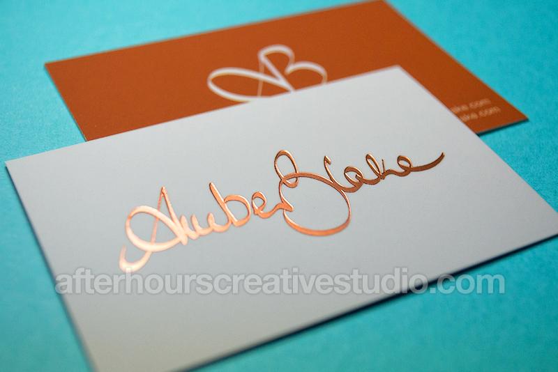 Luxury Business Cards Foil Stamped Velvet Laminated