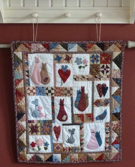 Of cat of mice quilt