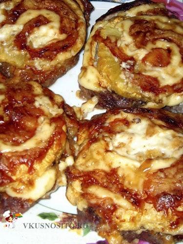 Отбивная с сыром и ананасом рецепт с пошагово в
