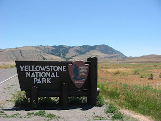 Camping in Yellowstone Park
