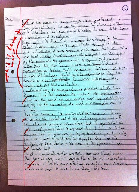 analysing war poetry