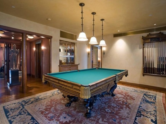 Photo of luxury pool table in the separated room