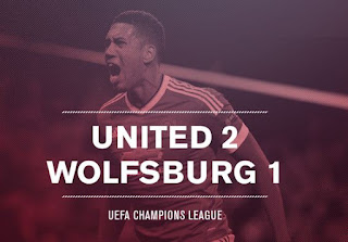 Review Manchester United vs Wolfsburg 2-1 Liga Champions