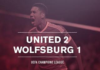 Review Manchester United vs Wolfsburg 2-1 Liga Champions