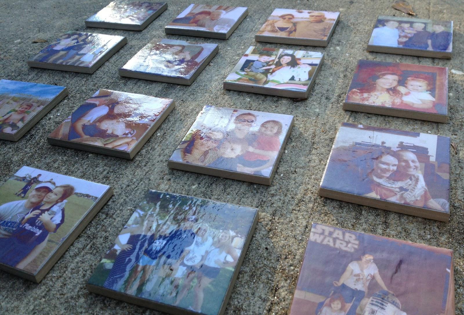 Mod Podge Tile Coaster Ideas Diy Crafts Pinterest