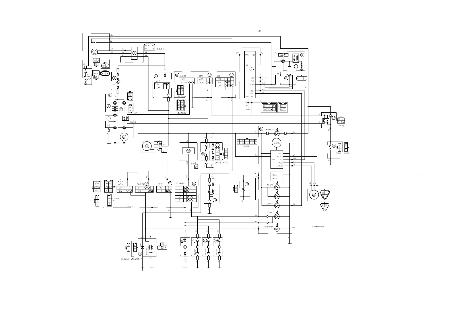 wiring diagram  diagram pengkabelan  yamaha byson Toyota Ignition Coil Wiring Diagram Motorcycle Ignition Coil Wiring Diagram