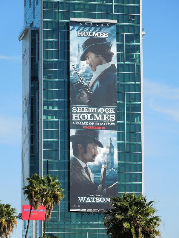 Sherlock Holmes 2 billboard