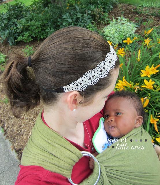 Babywearing - Cute Awaking Water Sling Giveaway - www.sweetlittleonesblog.com