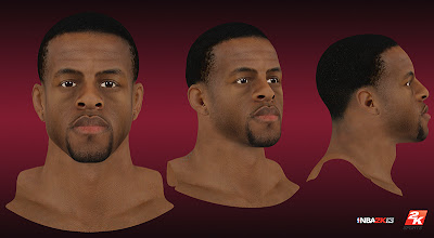 NBA 2K13 Andre Iguodala HD Cyberface Patch