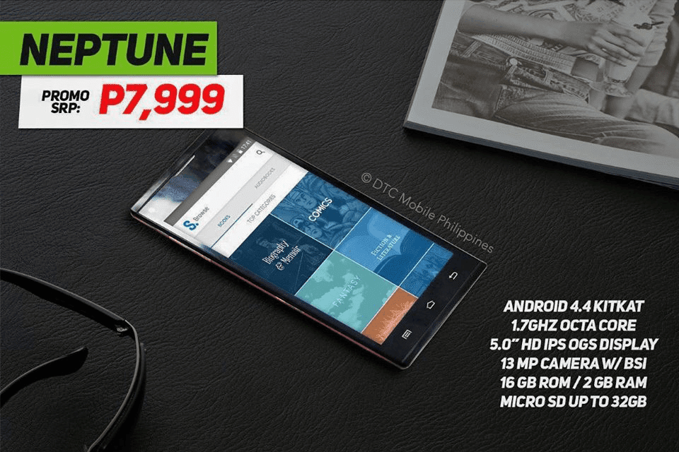 DTC NEPTUNE DOWN TO 7999 PESOS! OCTA CORE, 2 GB RAM AND COMES WITH A FREE TABLET!