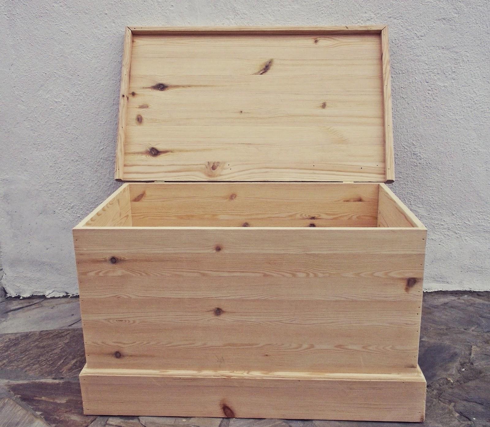 Madera artesana productos elaborados artesanalmente gran ba l ideal para guardar los - Como hacer un baul para guardar juguetes ...