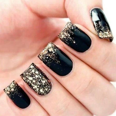 Black Acrylic Nail Designs Trends 2015 - 2016 10