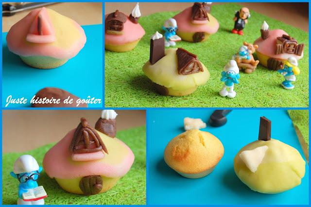 Juste histoire de go ter cupcakes maison schtroumpf - Schtroumpf maison ...