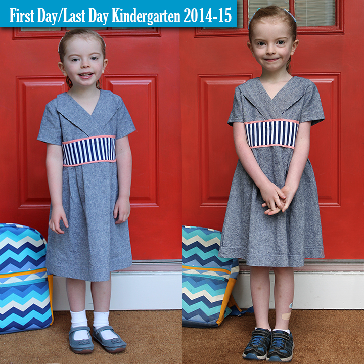 Get tips how to best create a side-by-side comparison picture from the first and last days of school! | The Inspired Wren