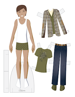 Adam - Fashion Friday Paper Doll