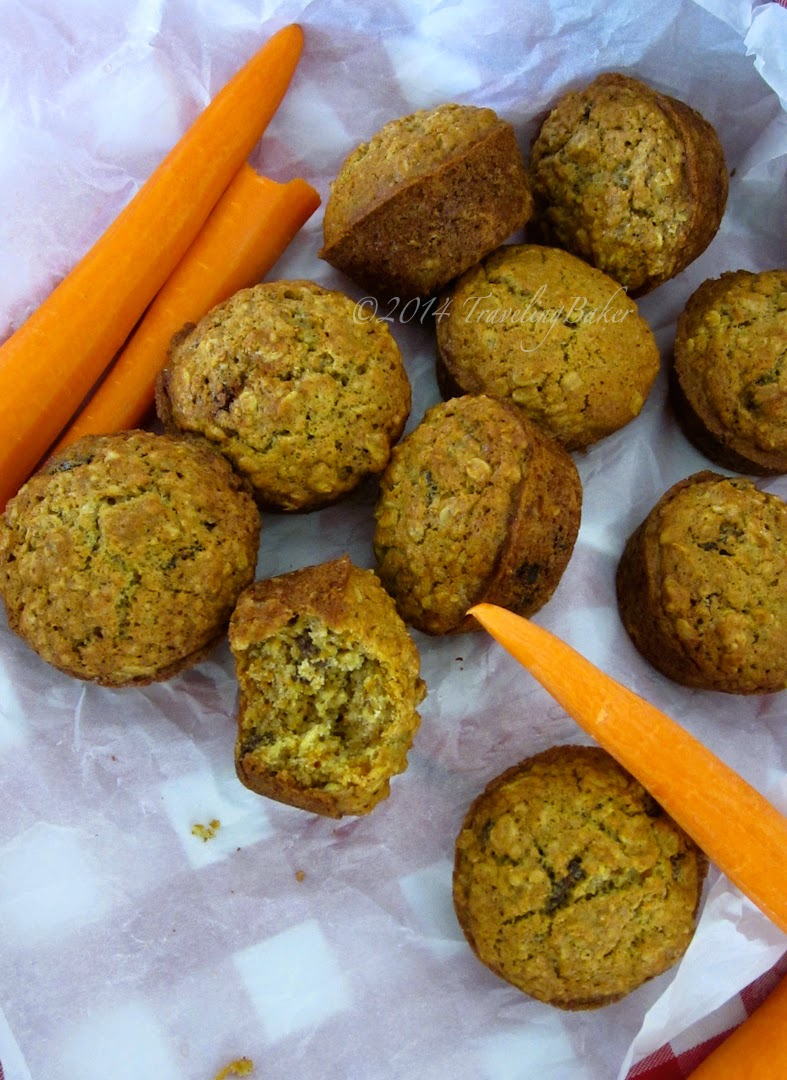 muffin alle carote e fiocchi d'avena