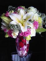 karangan bunga modern