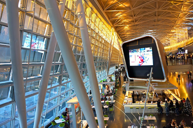 Picture of the Airside Center in Zurich Airport.
