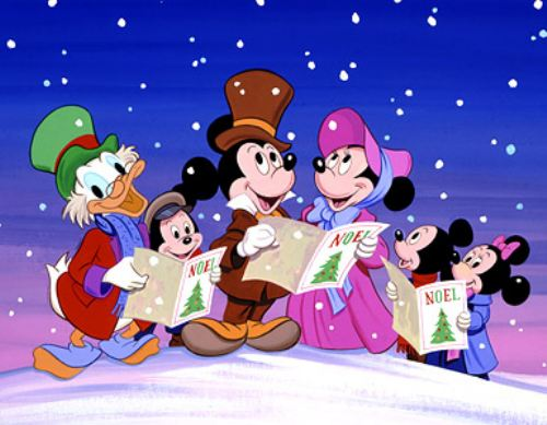 christmas disney cartoon wallpapers
