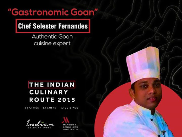 Indian Culinary Route Whitefield Marriott Bangalore, Chef Selester Fernandes