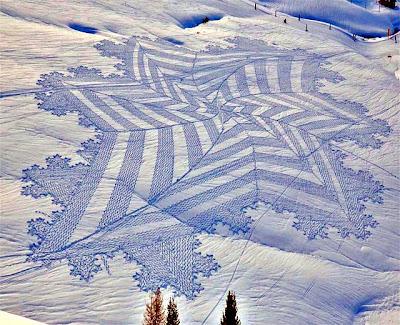 雪原アート