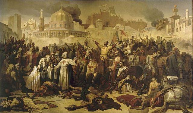 Pintura Conquista de Jerusalén 1099 en la primera cruzada Obra de Émile Signol